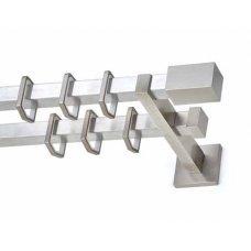 Ίσιο διπλό στήριγμα Anartsisi Milos T20 - Διπλό (Double) Νίκελ Σατινέ 160 cm