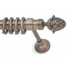 Μεταλλικό Κουρτινόξυλο Anartisi Luxor Νίκελ Σατινέ Φ35mm  160 cm