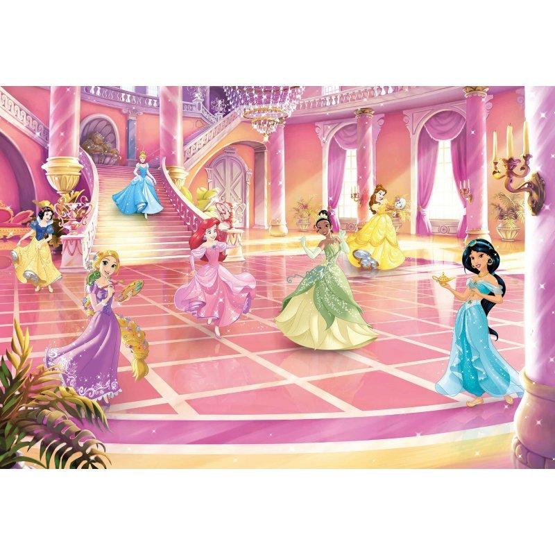 Φωτοταπετσαρία Τοίχου Komar 8-4107 Disney Princess Glitter Party (3.68 x2.54 m)
