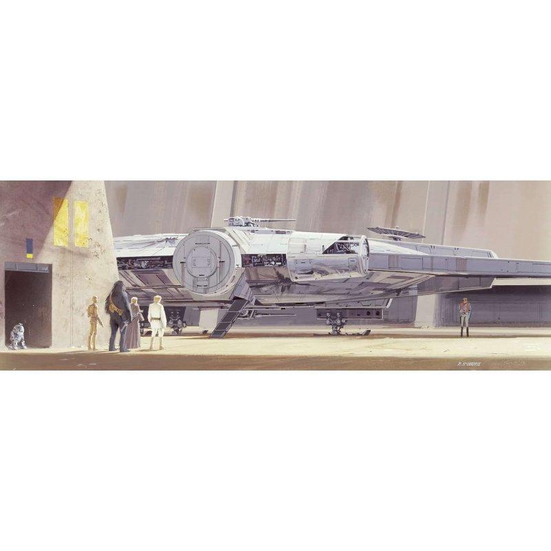 Φωτοταπετσαρία Τοίχου Komar 4-4112 Star Wars Classic RMQ Millenium Falcon (3.68 x1.27 m)