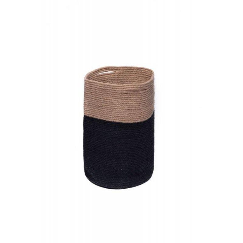 Διακοσμητικό Καλάθι Palamaiki Keg Black 30X45