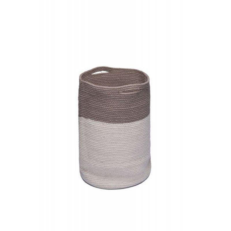 Διακοσμητικό Καλάθι Palamaiki Keg Grey 30X45