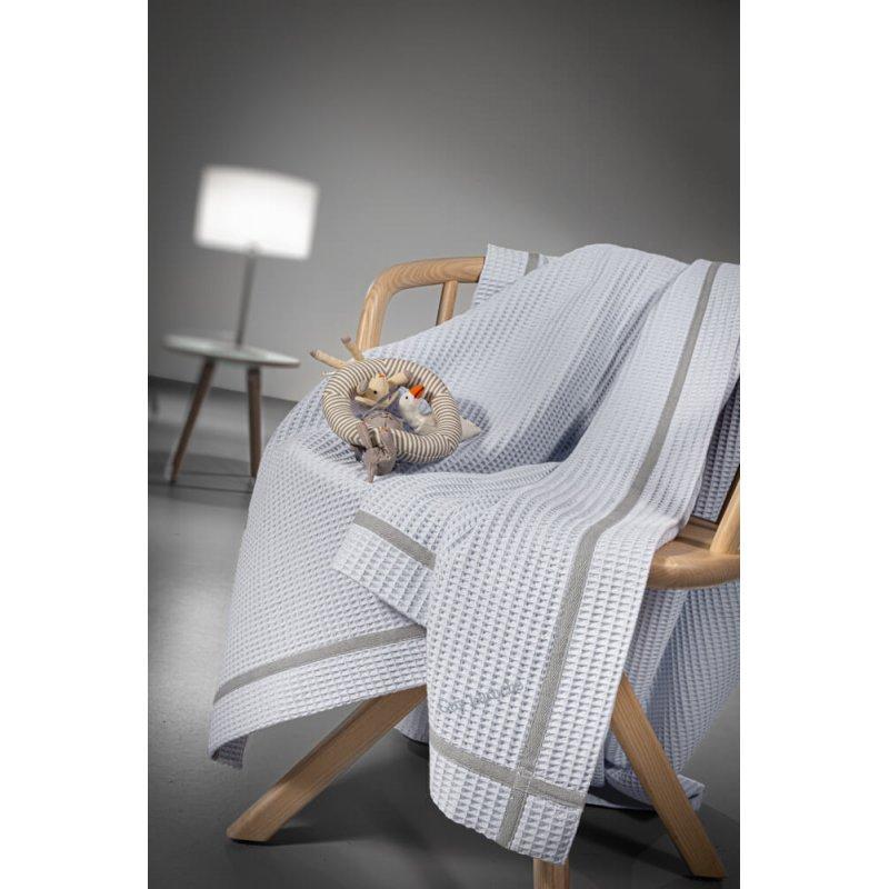 Guy Laroche Κουβέρτα Κούνιας Mood Πικέ 110x140cm Light Blue