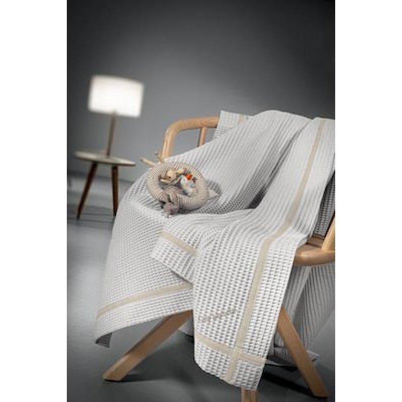Guy Laroche Κουβέρτα Κούνιας Mood Πικέ 110x140cm Silver